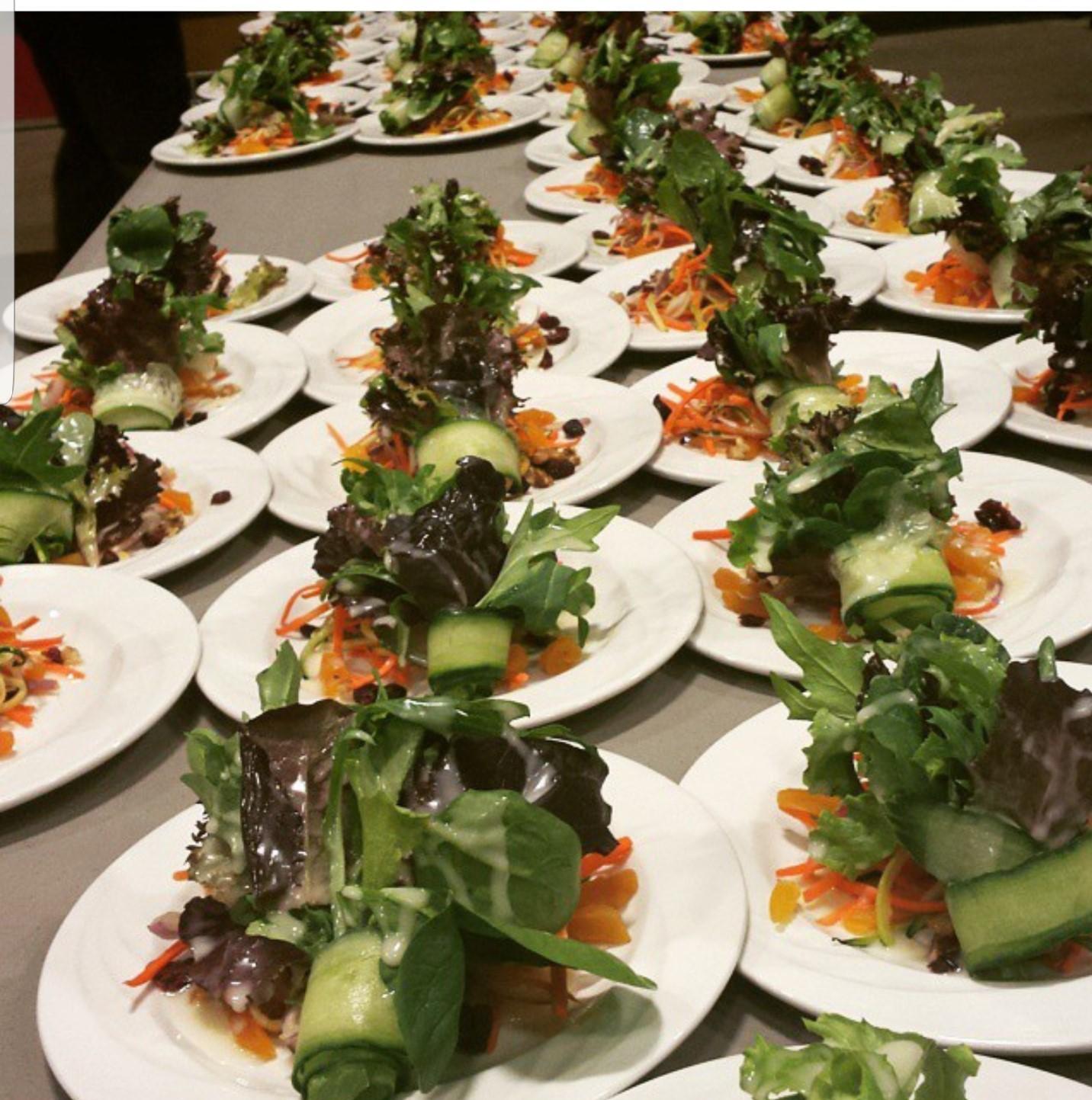 salad on plates